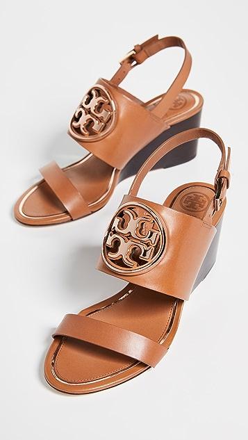 Tory Burch Metal Miller 65mm Wedge Sandals