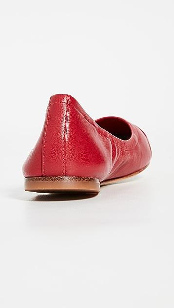 Tory Burch Эксклюзивные балетки с контрастным носком