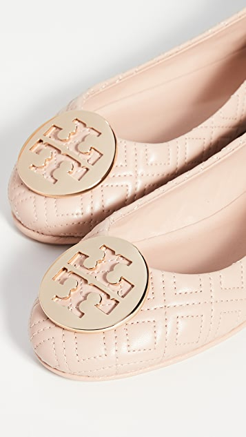 Tory Burch Minnie 绗缝平底鞋