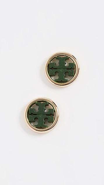 Tory Burch Miller Circle Stud Earrings