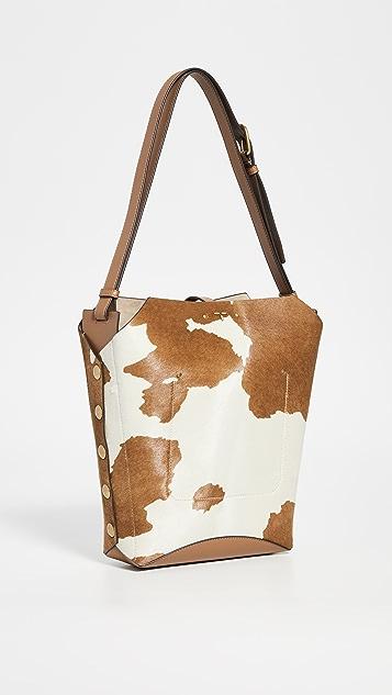 Tory Burch Rowan Calf Hair Bucket Bag