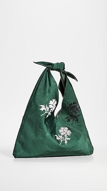 Tory Burch Сумка Zoe с завязками и декоративной отделкой