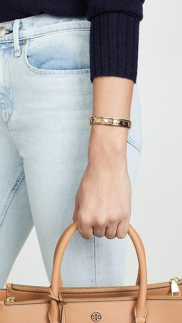 Tory Burch Logo Stud Hinge Bracelet