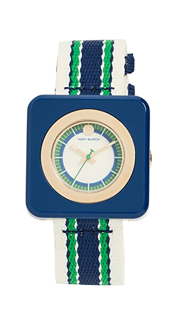 Tory Burch Часы Izzie с циферблатом диаметром 36мм