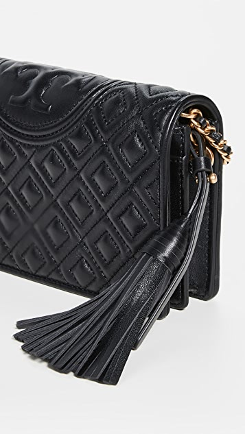 Tory Burch Fleming Flat Wallet Crossbody