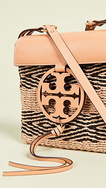 Tory Burch Miller Crossbody Bag - Natural/Black