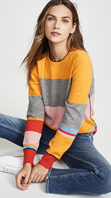 Tory Burch Colorblock Cashmere Pullover