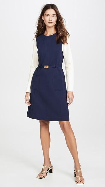 Tory Burch Плотное платье с цветными блоками