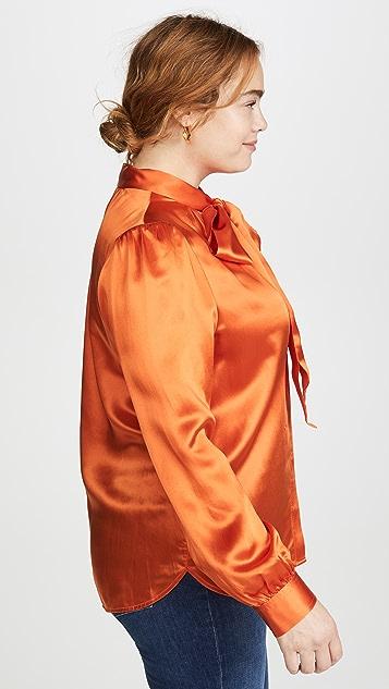 Tory Burch 真丝蝴蝶结女式衬衫