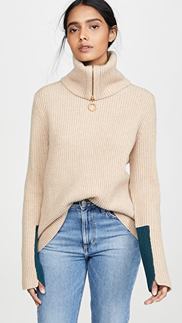 Tory Burch Patch Cuff Sweater