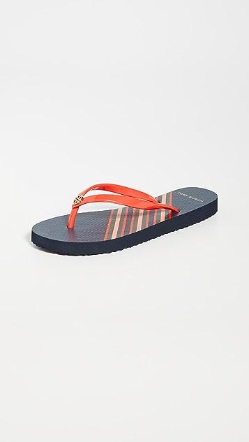 Tory Burch Thin Flip Flop Sandals