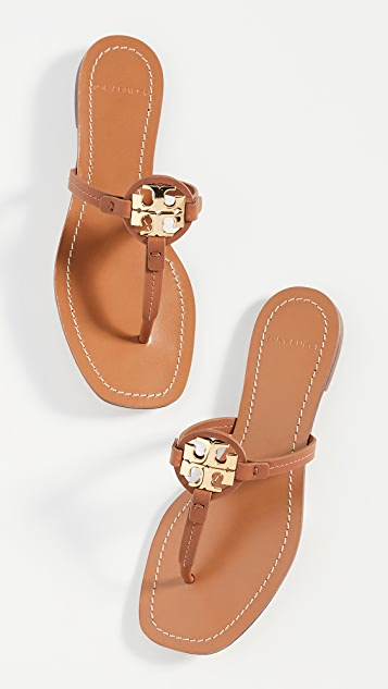 Tory Burch Mini Miller 皮夹趾凉鞋