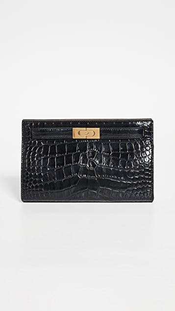 Tory Burch Lee Radziwill Embossed Clutch