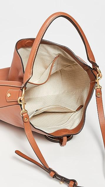 Tory Burch Металлизированная сумка-хобо Miller с напуском