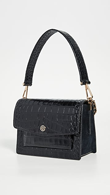 Robinson Embossed Shoulder Bag by Tory Burch