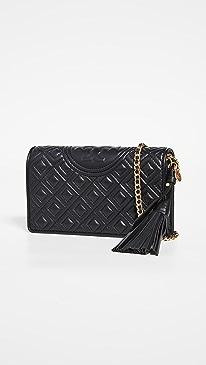 토리버치 Tory Burch Fleming Wallet Crossbody Bag,Black