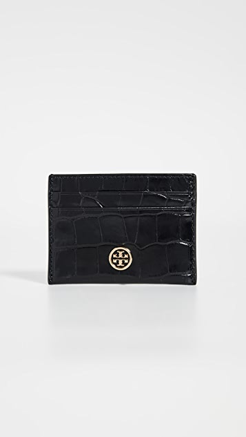 Tory Burch Robinson Embossed Card Case
