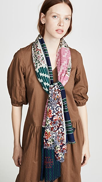 Tory Burch Multipatch Oblong Scarf