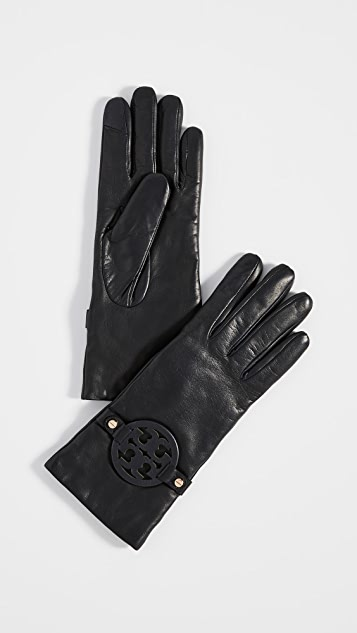 Tory Burch Miller Leather Gloves