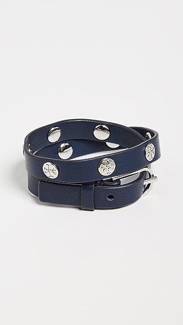 Tory Burch 双环绕式徽标铆钉手链