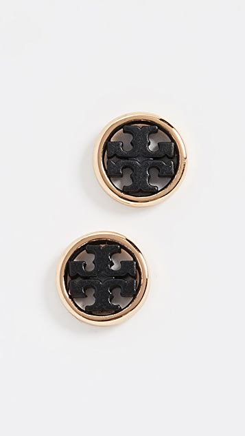 Tory Burch Miller Circle Stud Earrings