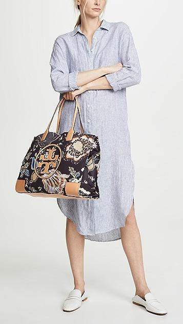 Tory Burch Объемная сумка с короткими ручками Ella с принтом