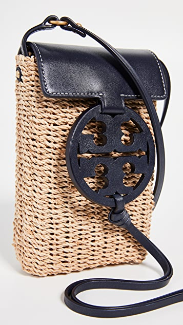 Tory Burch Соломенная сумка через плечо для телефона Miller
