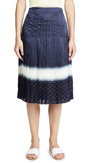 Tory Burch Shibori Dip Dye Skirt