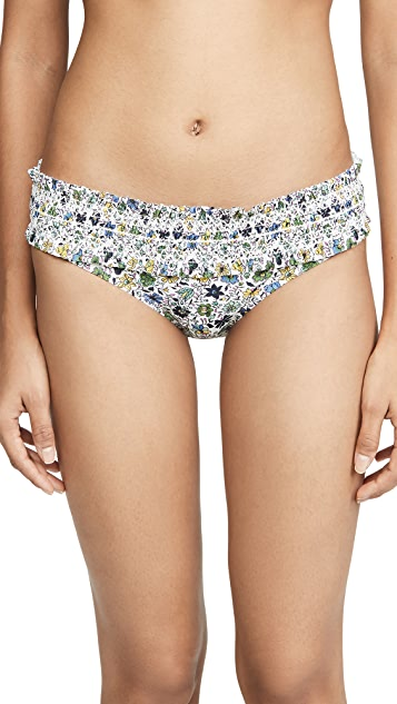 Tory Burch Costa Printed Hipster Bikini Bottoms