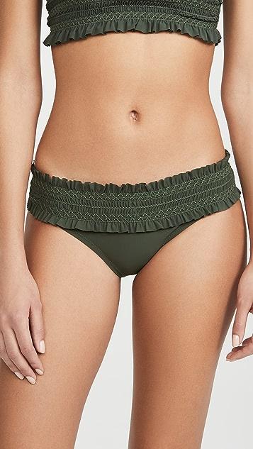 Tory Burch Costa Bandeau Bikini Bottoms