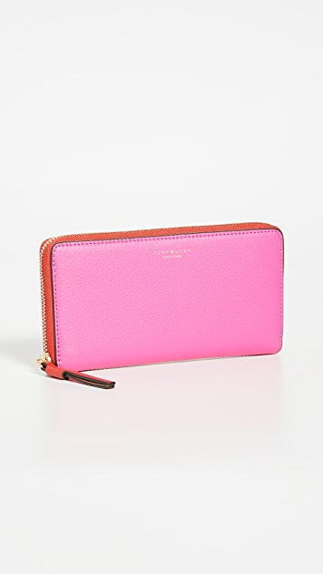 Tory Burch Perry Color-Block Zip Continental Wallet