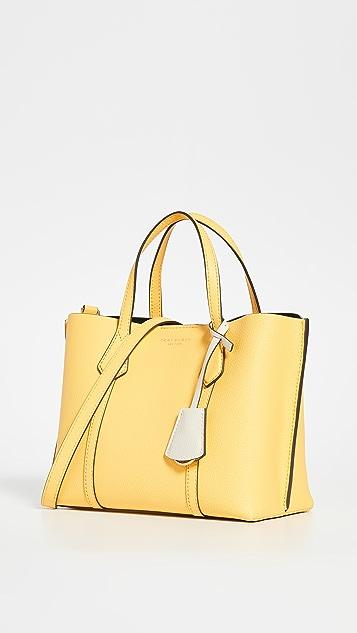 Tory Burch Маленькая объемная сумка Perry с короткими ручками и тремя отделениями