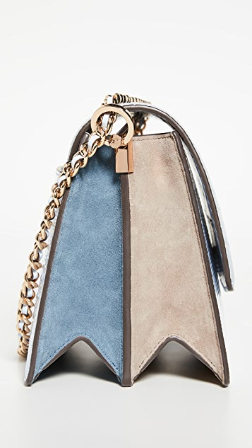 Tory Burch Robinson Embossed Colorblock Shoulder Bag