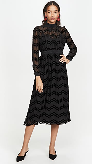 Tory Burch Dress Velvet Devore Dress