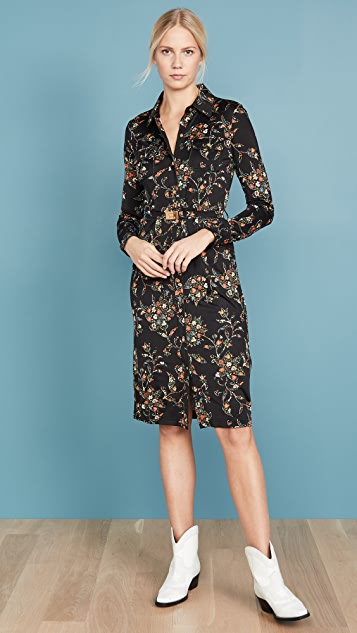 Tory Burch Dress Printed Jersey Shirtdress