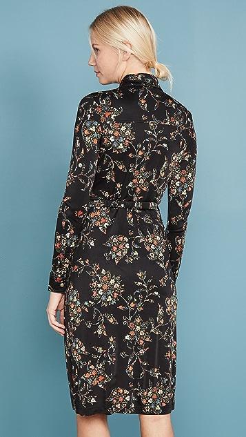 Tory Burch Платье-рубашка из джерси с принтом
