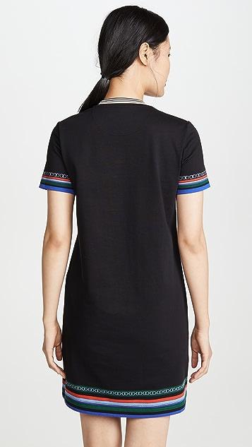 Tory Burch Платье-футболка с принтом
