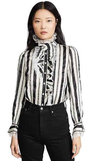 Tory Burch 条纹蝴蝶结女式衬衫