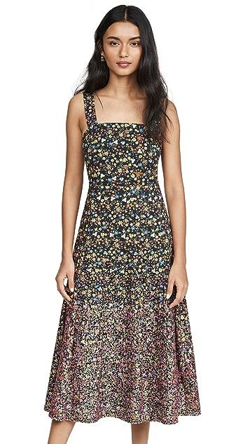 Tory Burch Платье из хлопка с вышивкой с блестками