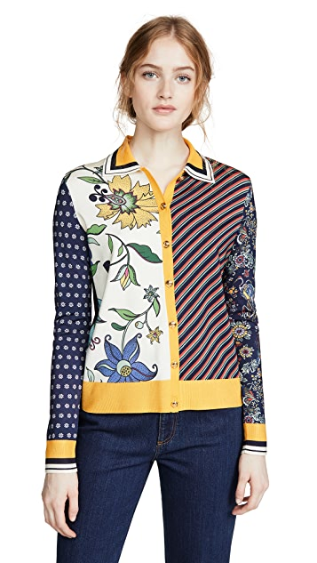 Tory Burch Collared Button Down Sweater