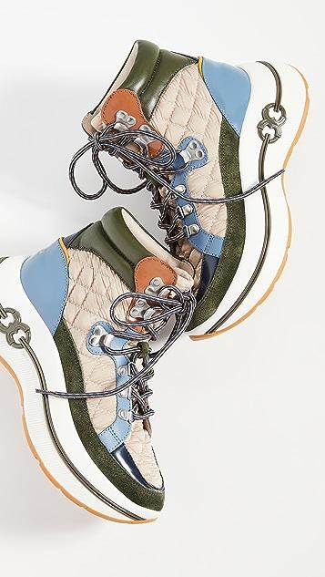 Tory Burch Gemini Link Platform Hiking Boots