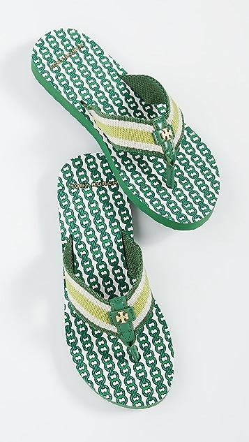 Tory Burch Slippers Gemini Link Thin Flip Flops
