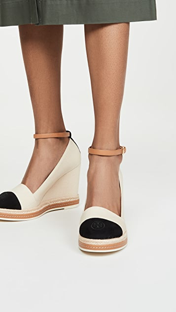 Tory Burch Colorblock Wedge Espadrilles 105mm