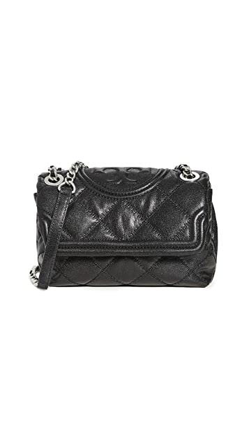 Tory Burch Fleming Distressed Shoulder Bag