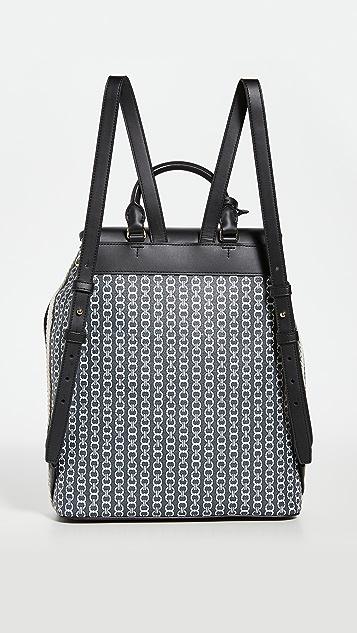 Tory Burch Gemini Link Canvas Backpack