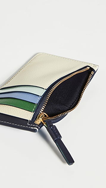 Tory Burch Perry Colorblock Card Case