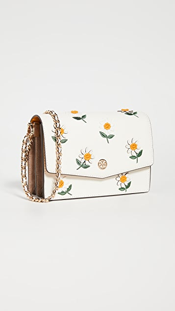 Tory Burch Robinson Embroidered Shoulder Bag