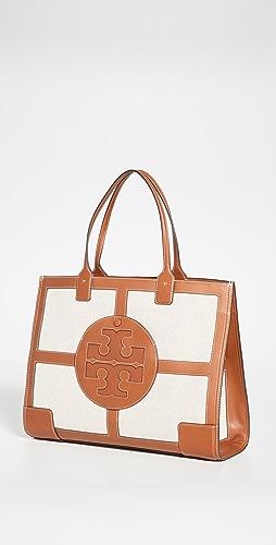 Tory Burch - Elle Canvas Quadrant Tote Bag