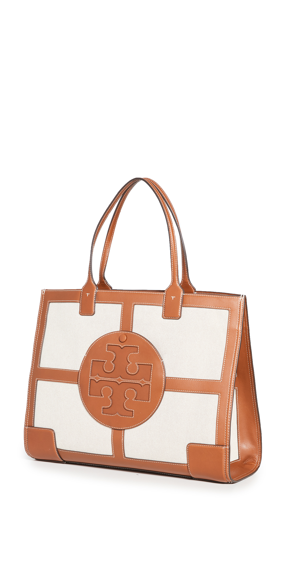 Tory Burch Elle Canvas Quadrant Tote Bag