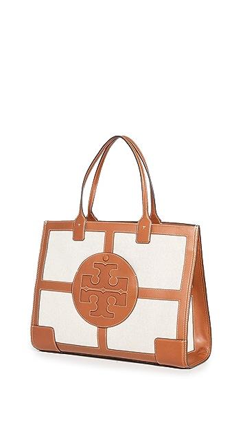 Tory Burch Elle Canvas Quadrant Tote Bag